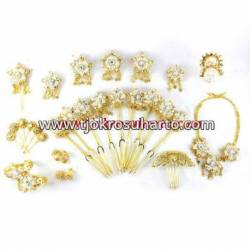 FSM 022 Set Perhiasan Manten bunga Jambu silih asih BNG