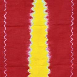 DKJ 296 Kemben Tritik Jumputan Merah Tengahan Kuning MYT