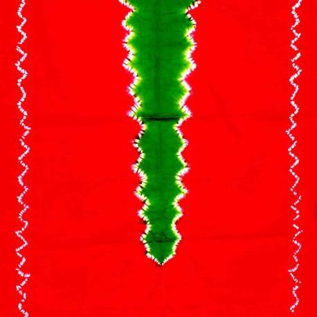 DKJ 175 Kemben Tritik Jumputan Merah Tengahan Hijau MYT