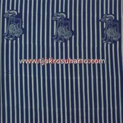 BHH 803 Bahan Hem/rok batik Cap kelengan biru slarak ceplok wayang BTN