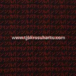 Bahan Hem/rok batik Cap kelengan hitam kanji Katakana merah BTN