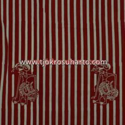 BHH 800 Bahan Hem/rok batik Cap kelengan merah slarak wayang ceplok BTN