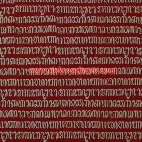 Bahan Hem/rok batik Cap kelengan merah honocoroko BTN