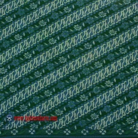 BHA 832 Bahan Hem/rok Kombinasi cap tulis parang seling boket hijau SPR