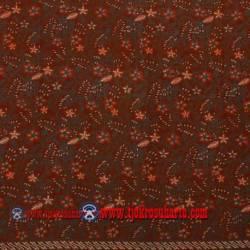 BHH 833 Bahan Hem/rok Kombinasi cap tulis Parijoto merah tumpal parang SPR