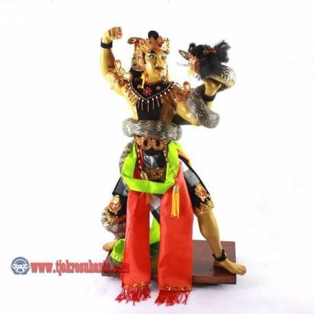 EMF 475 Patung fiber Wekudoro Tarung Ulo polos 43x26 cm BUD