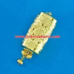 EPK 106 Liontin tatah sepuh emas Tabung 4x7 cm (5) WDI