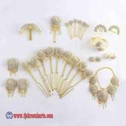 FSM 115 Perhiasan manten matahari lim batu emas NNG