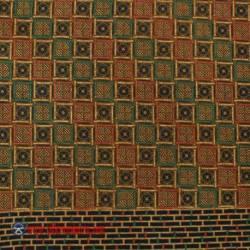 BHH 390 Bahan Hem/rok Printing sogan colet katun Kotak tumpal 240x110 cm HSN