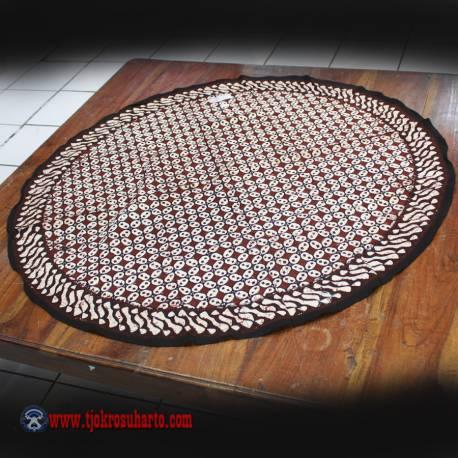 Taplak Meja Bulat batik cap Sogan G 1 m ANS