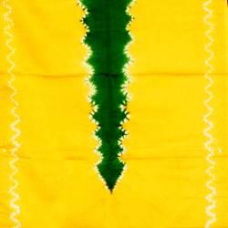 Kemben Tritik Jumputan Kuning Tengahan Hijau MYT