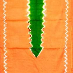 Kemben Tritik Jumputan Orange Tengahan Hijau MYT