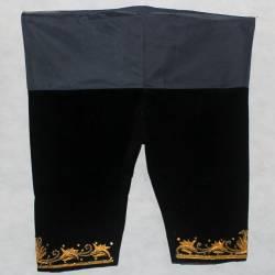 Celana Bludru Pendek Hitam SGM
