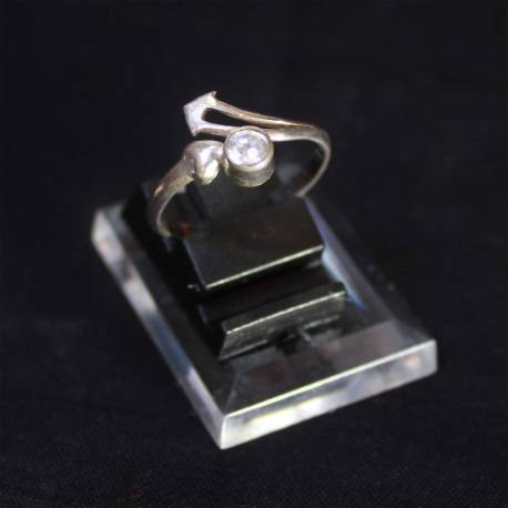 Cincin Perak 925 Bali Pita Batu Circon STN