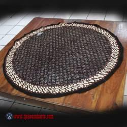 Taplak Meja Bulat batik cap Sogan C 1 m ANS