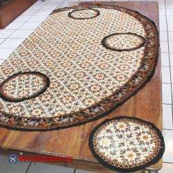 Taplak Meja Makan persegi batik cap Sogan A 150x150 cm ANS