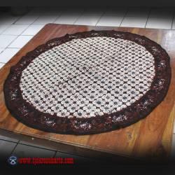 Taplak Meja Bulat batik cap Sogan D 1 m ANS