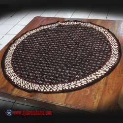 Taplak Meja Bulat batik cap Sogan B 1 m ANS