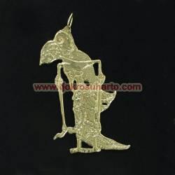 Liontin sepuh emas wayang Sinta (2) WDI