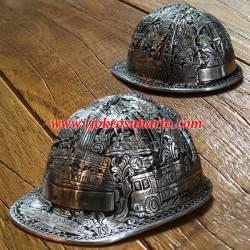 Helm Proyek Almunium ukir Batubara 23x16x30 cm TPN