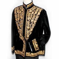 Pakaian Manten Yogya Putra Gim kombinasi krol bludru crown