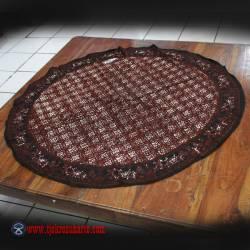 Taplak Meja Bulat batik cap Sogan A 1 m ANS