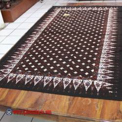 Taplak Meja Makan persegi batik cap Sogan D 120x200 cm ANS