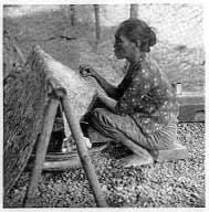 gambar proses batik cap kerok
