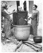 gambar proses batik cap mbabar batik