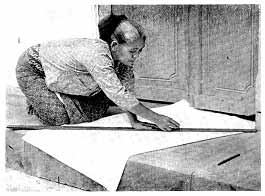 perlengkapan batik cap ukur mori